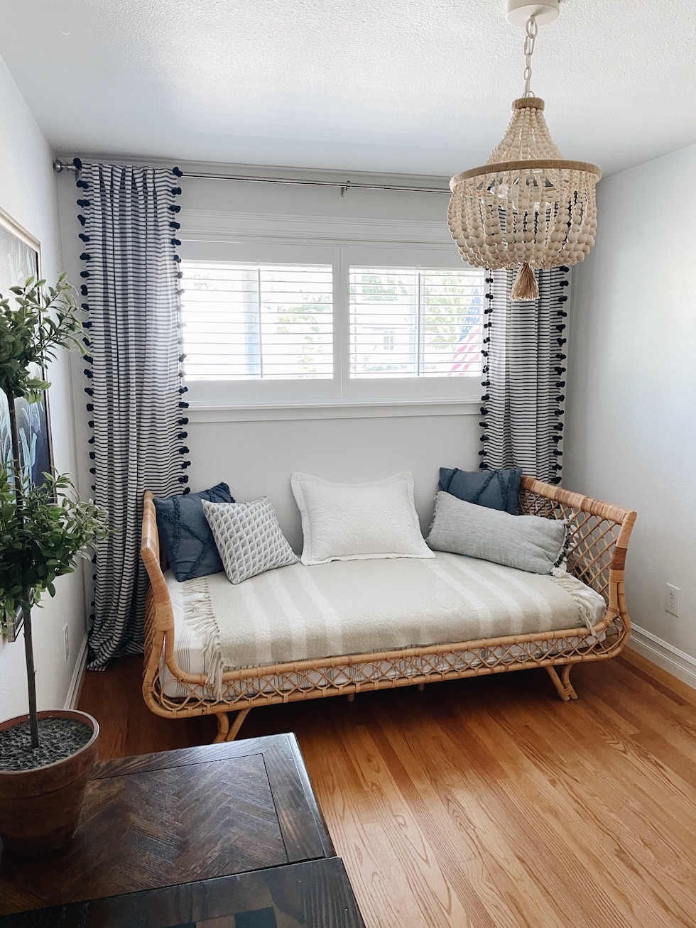 Rattan Daybed in Our Guest Room