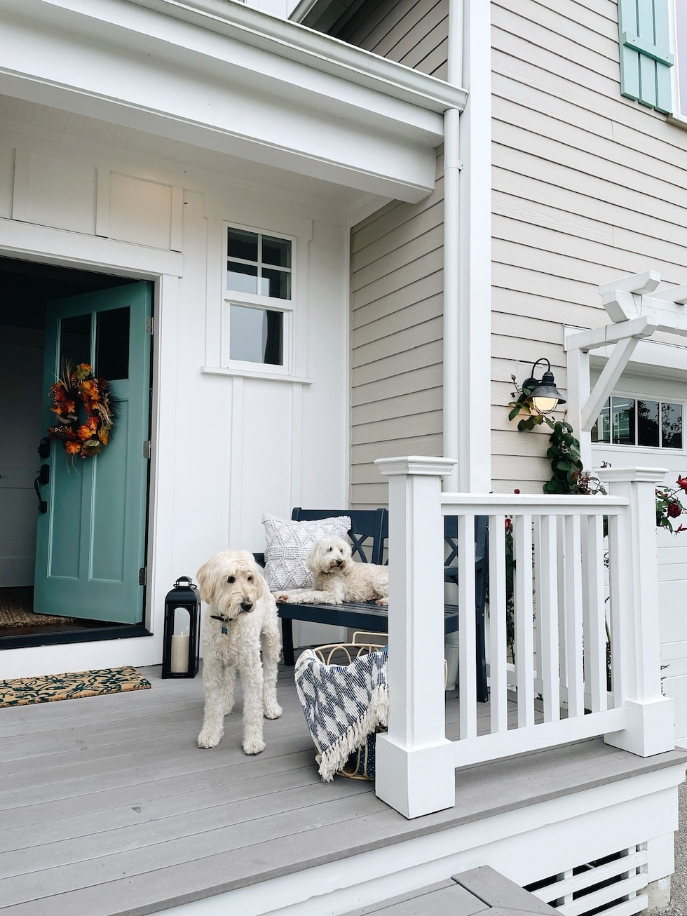 Decorating Our New Front Porch and Entry for Fall