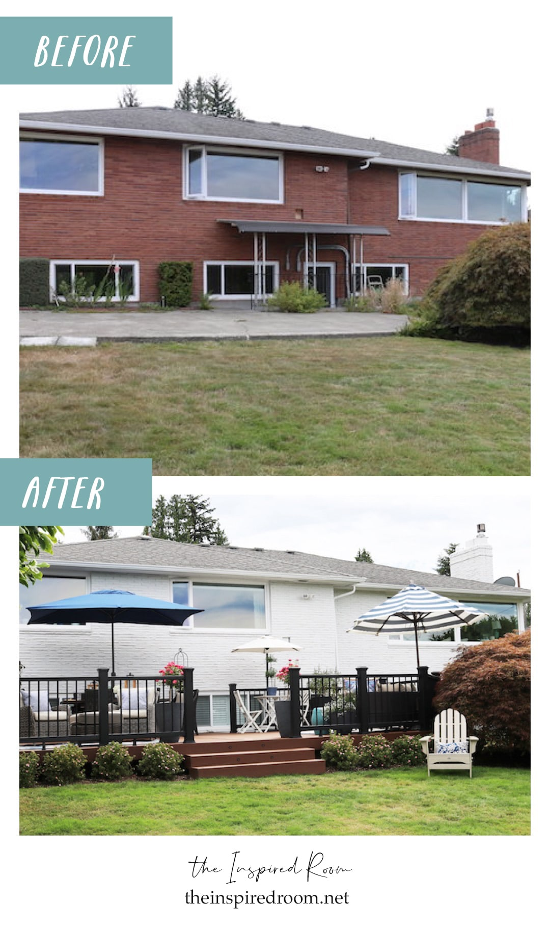 Our Painted Brick Exterior + Backyard Projects: Part One